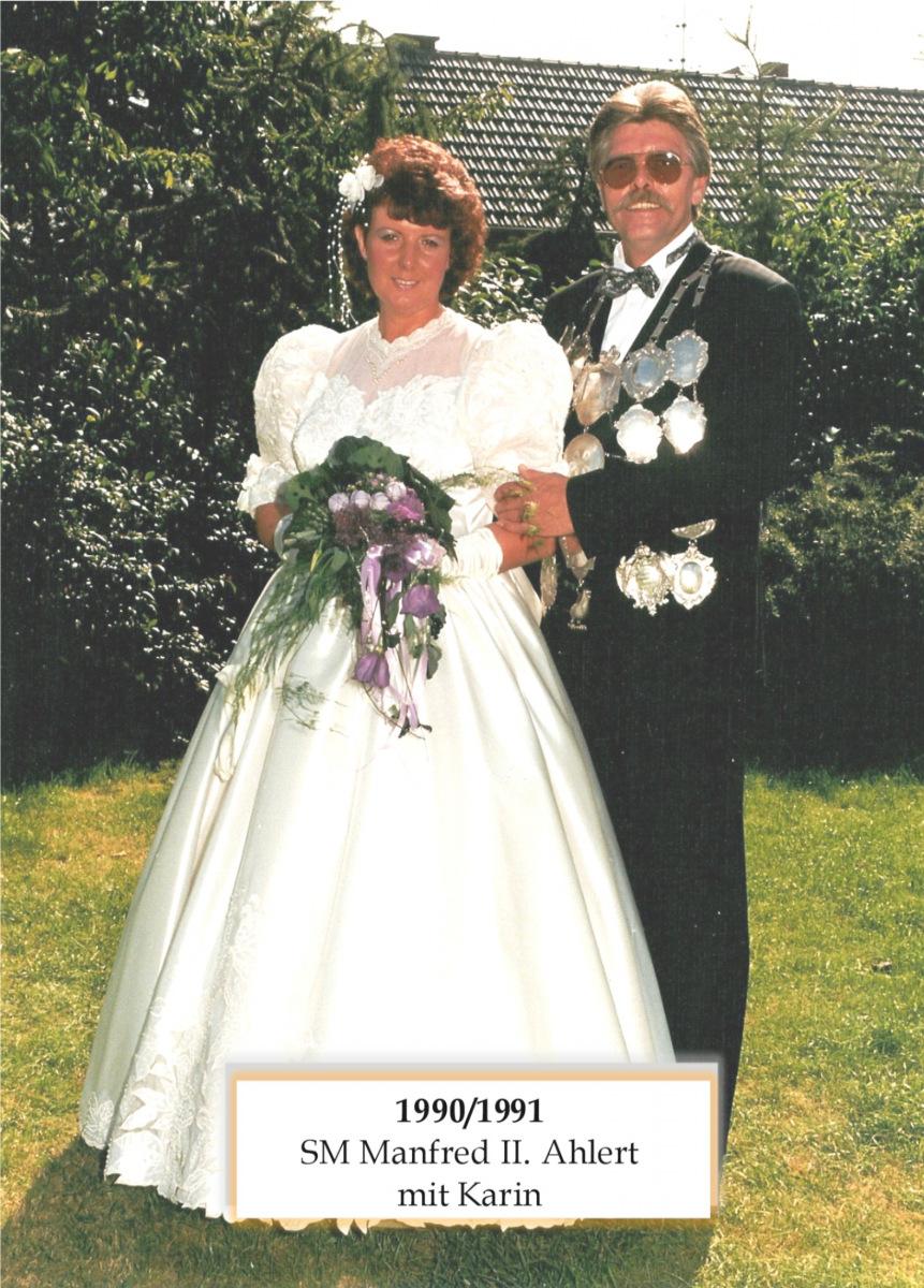 SM 1990/91 Manfred II Ahlert mit Karin