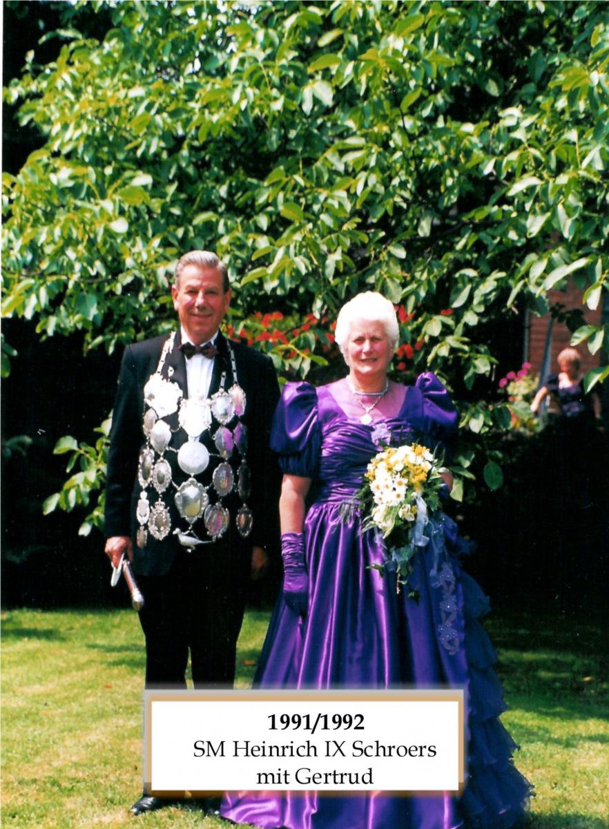 SM 1991/92 Heinrich IX Schroers mir Gertrud
