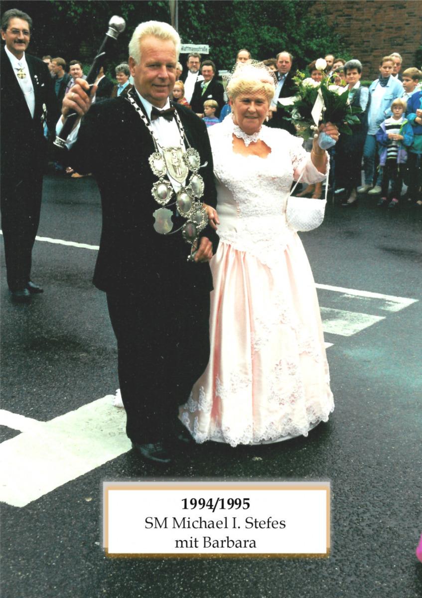 SM 1994/95 Michael I Stefens mit Barbara