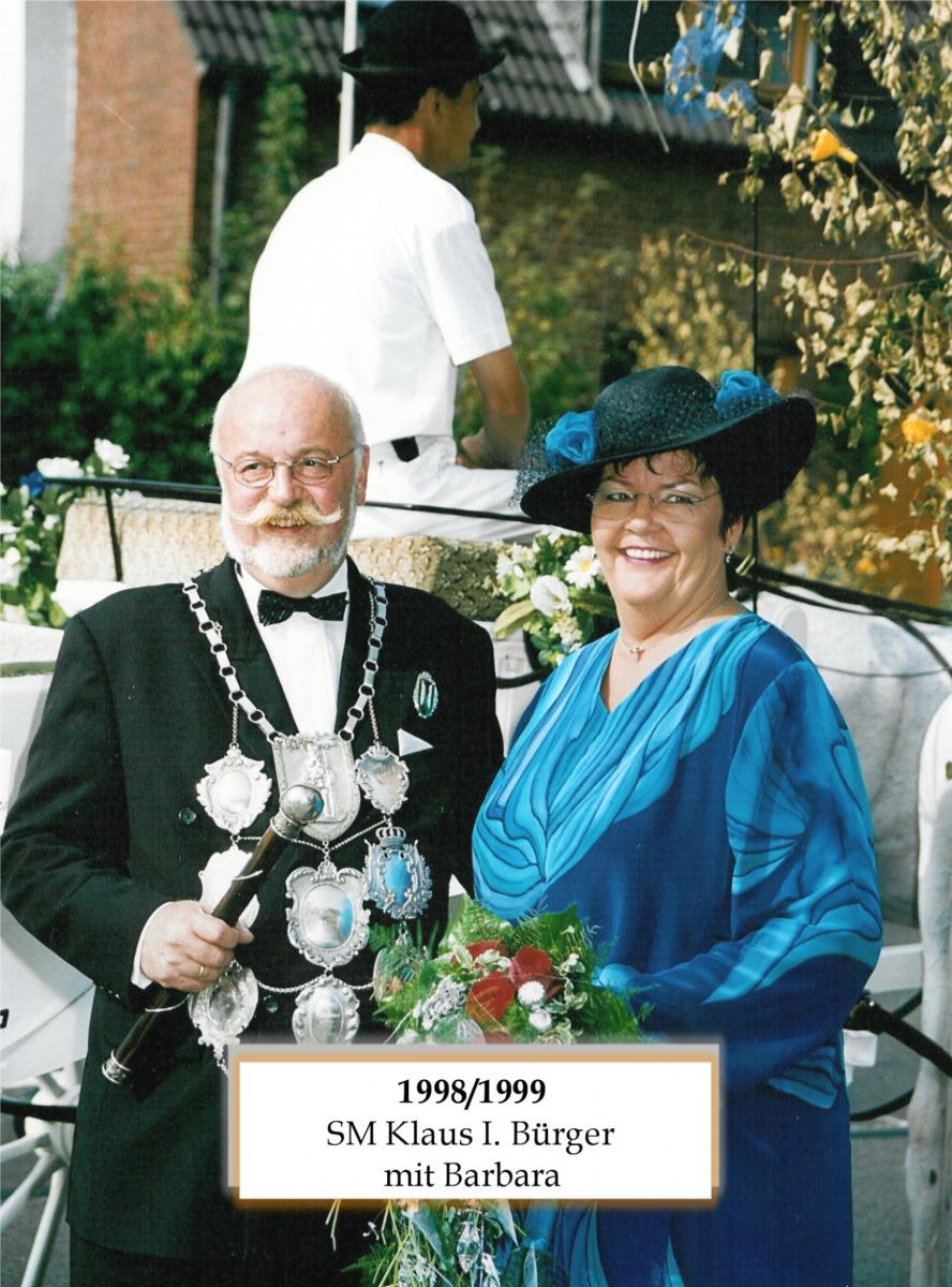 SM 1998/99 Klaus I Bütger mit Barbara