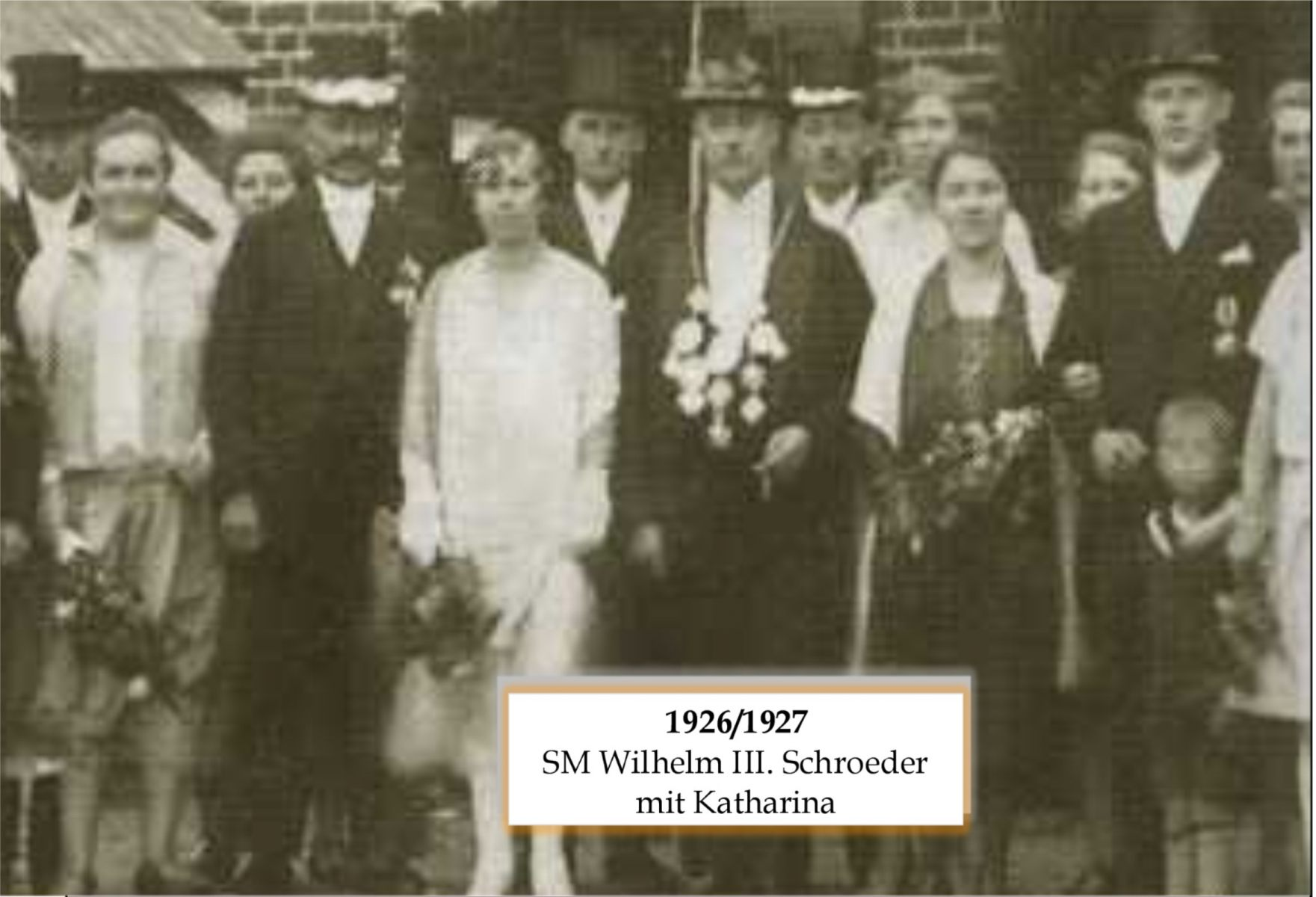 SM 1926 Wilhelm III Schroeder mit Katharina