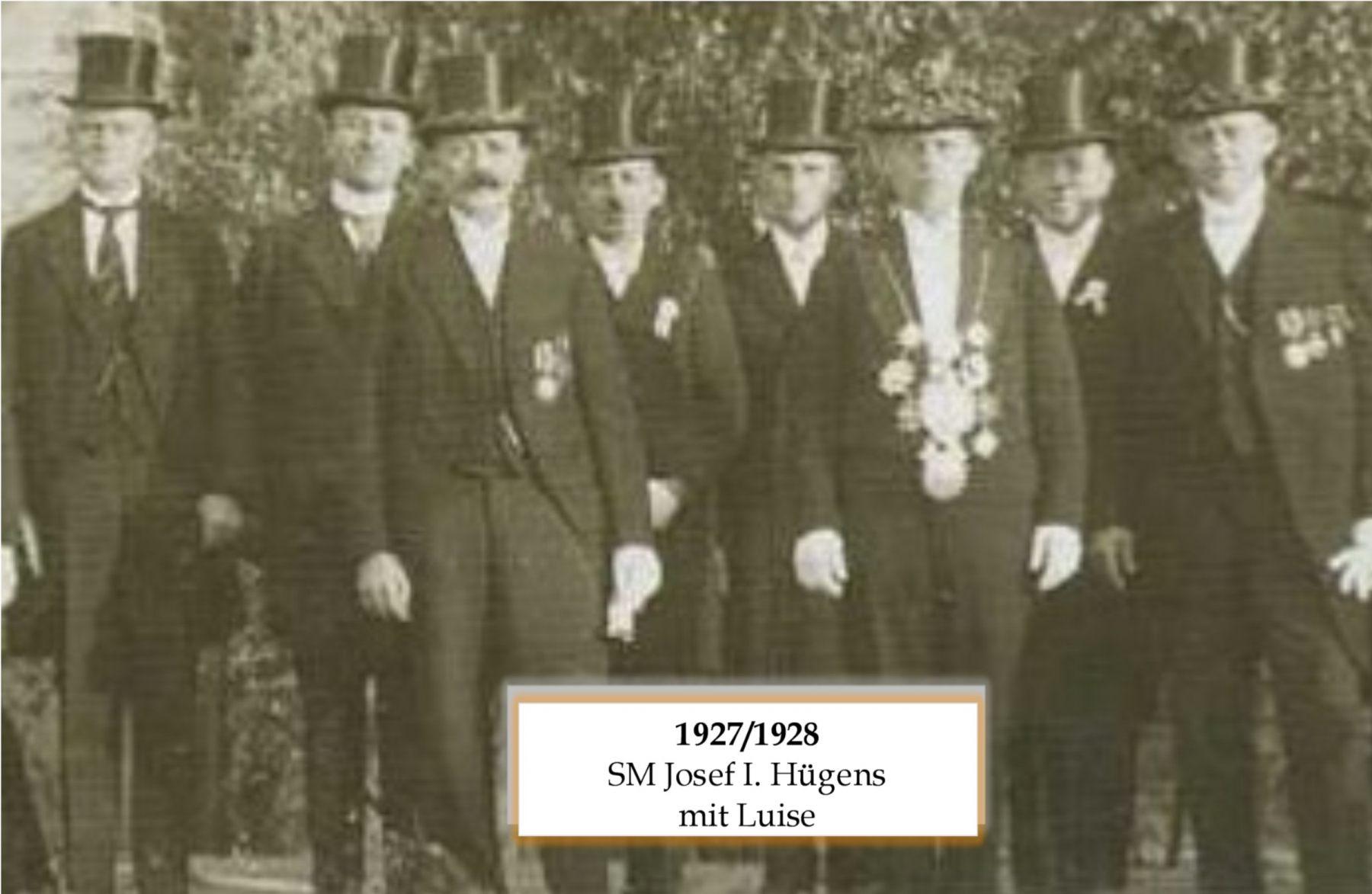 SM 1927/28 Josef I Hüens mit Luise