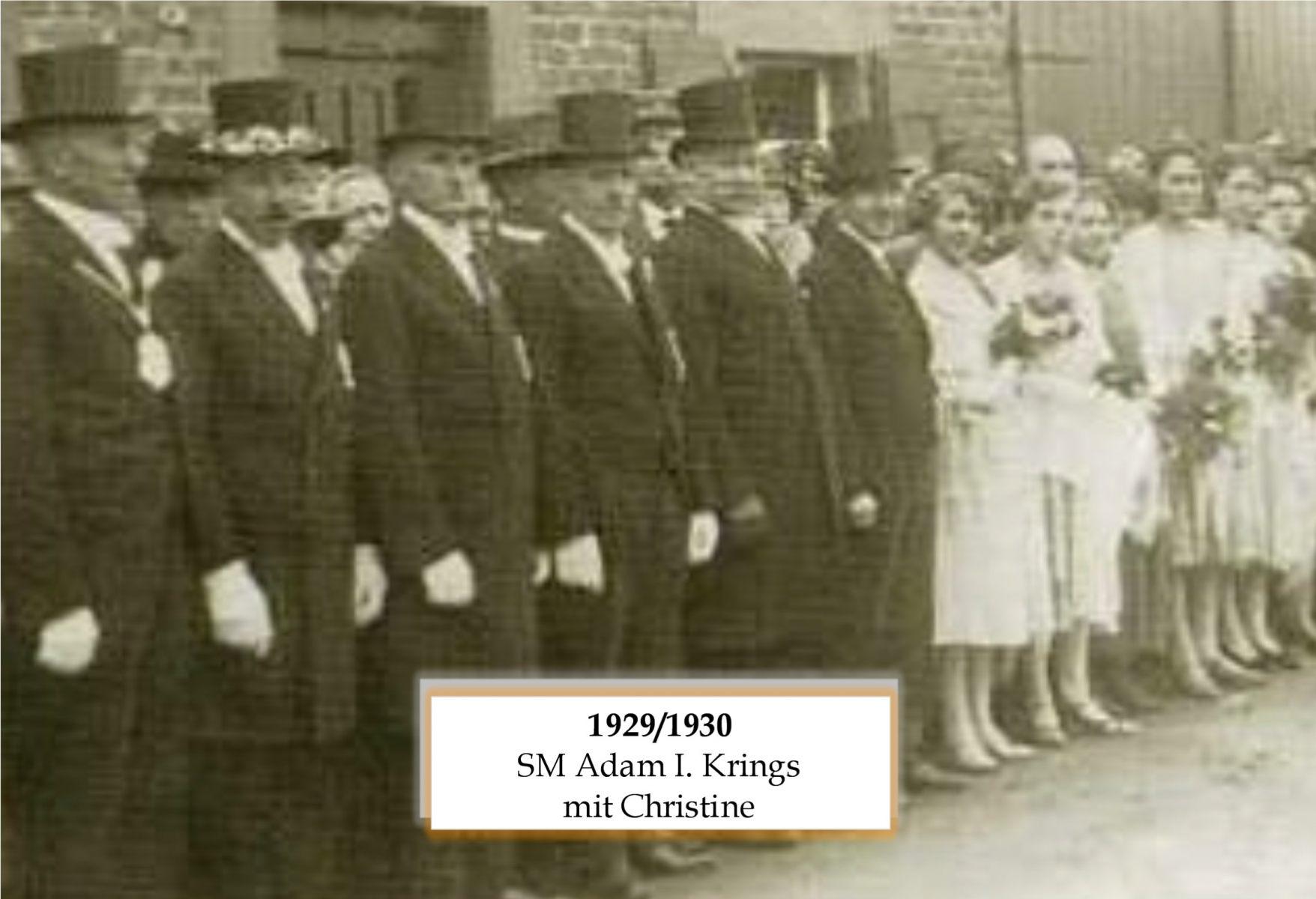 SM 1929/30 Adam I Krings mit Chistine