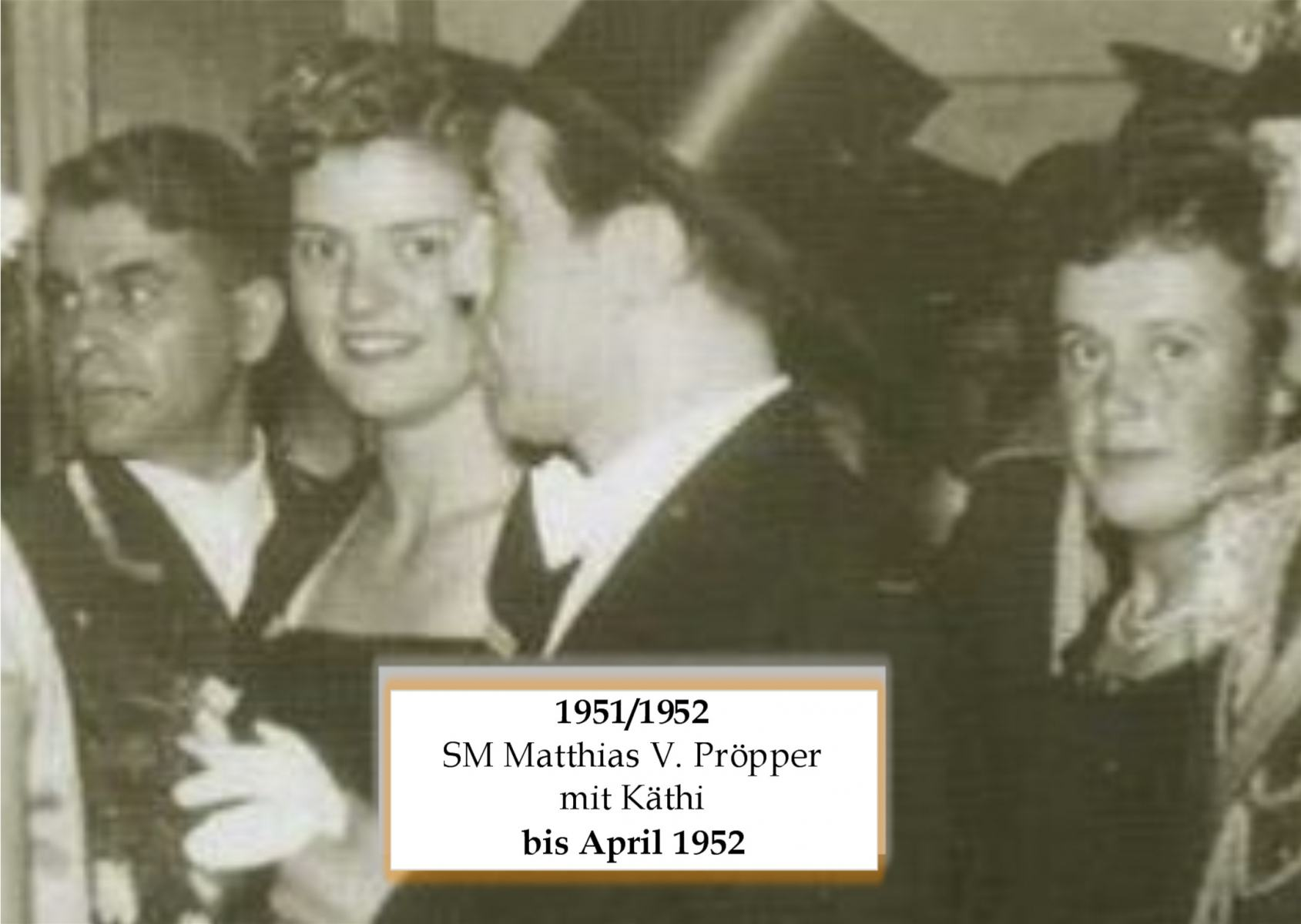 SM 1951/52 Matthias Pröpper mit Käthi