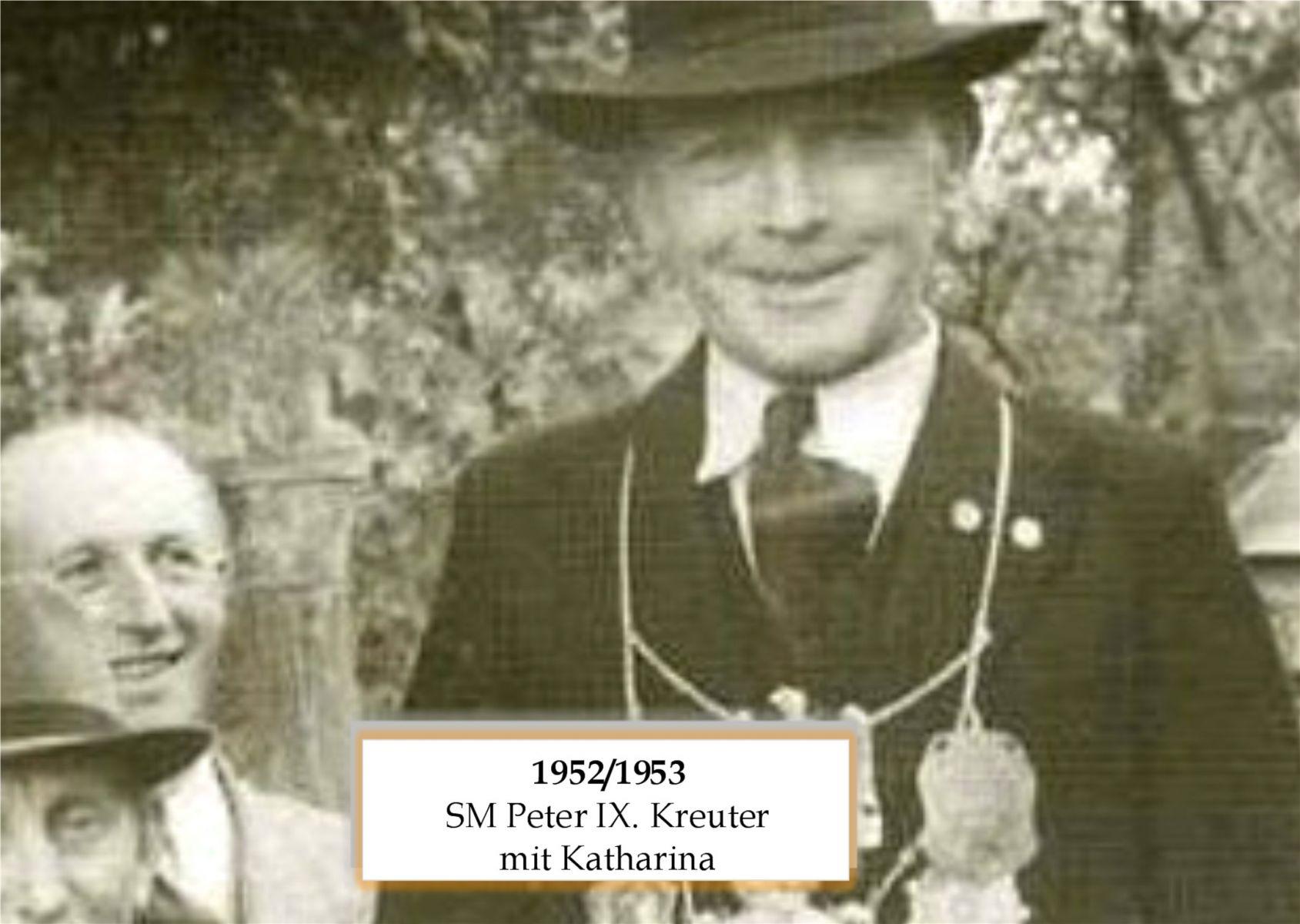 SM 1952/53 Peter IX Kreuter mit Katharina