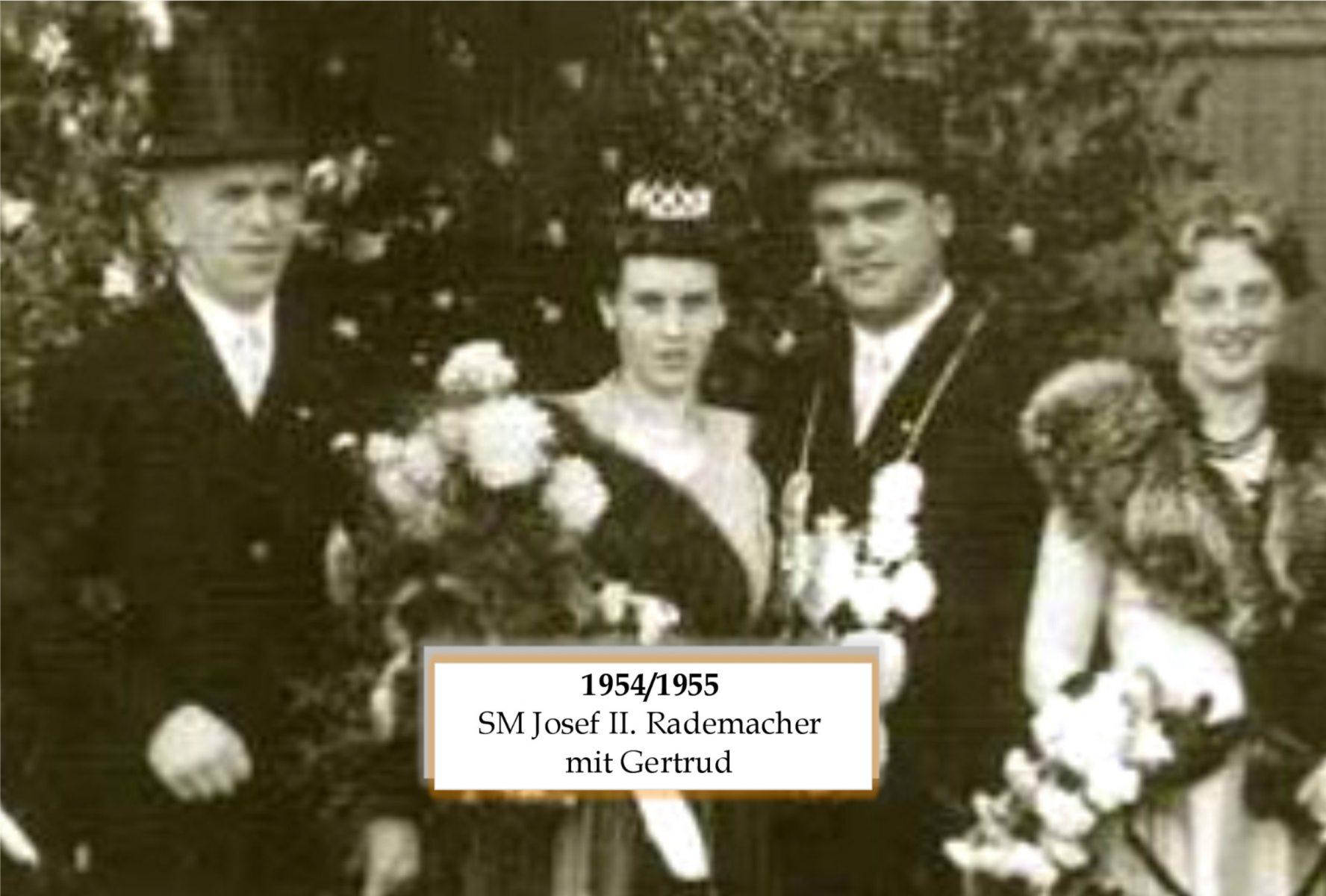 SM 1954/55 Josef Rademacher mit Gertrud