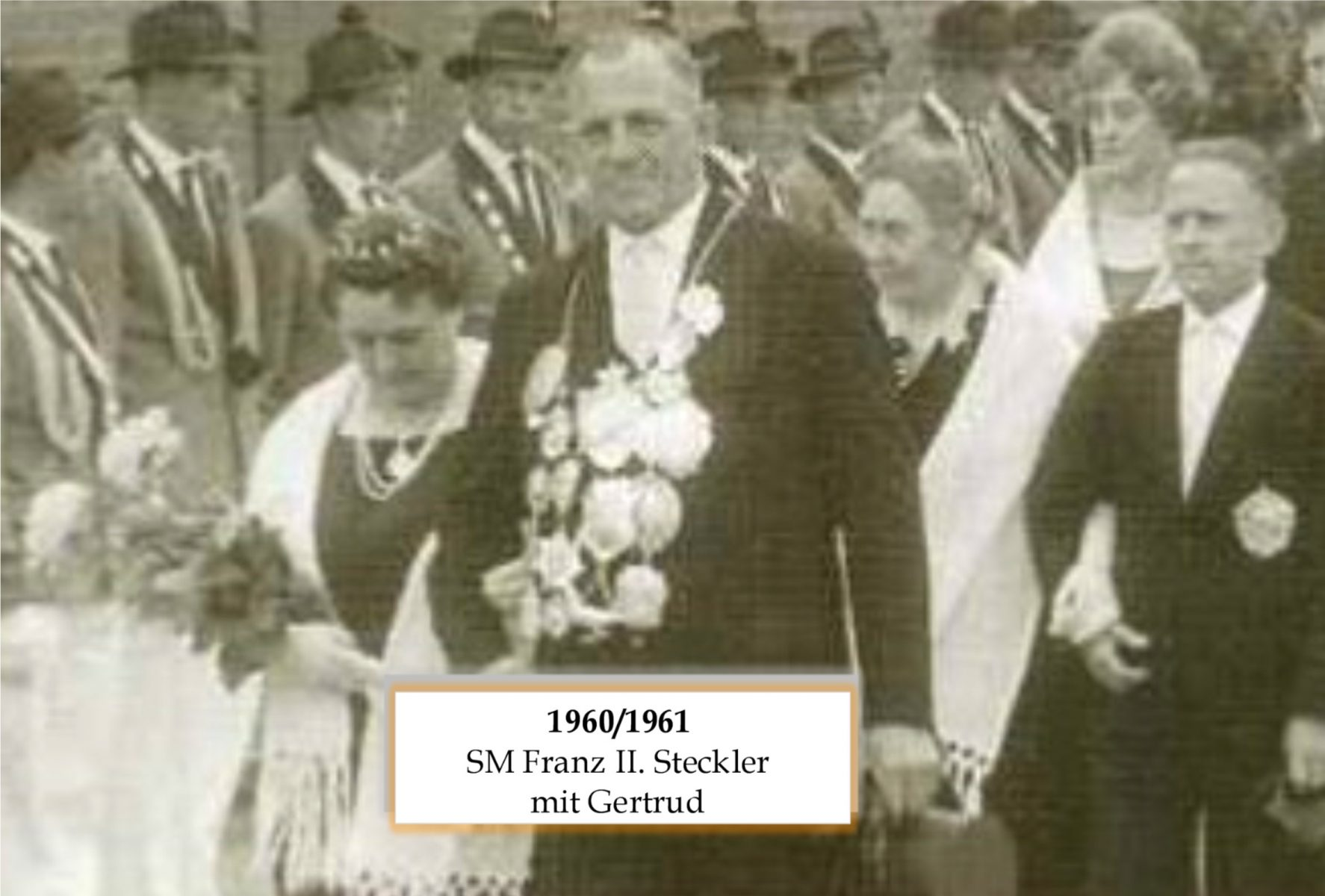 1960/61 Franz II Steckler mit Gertrud