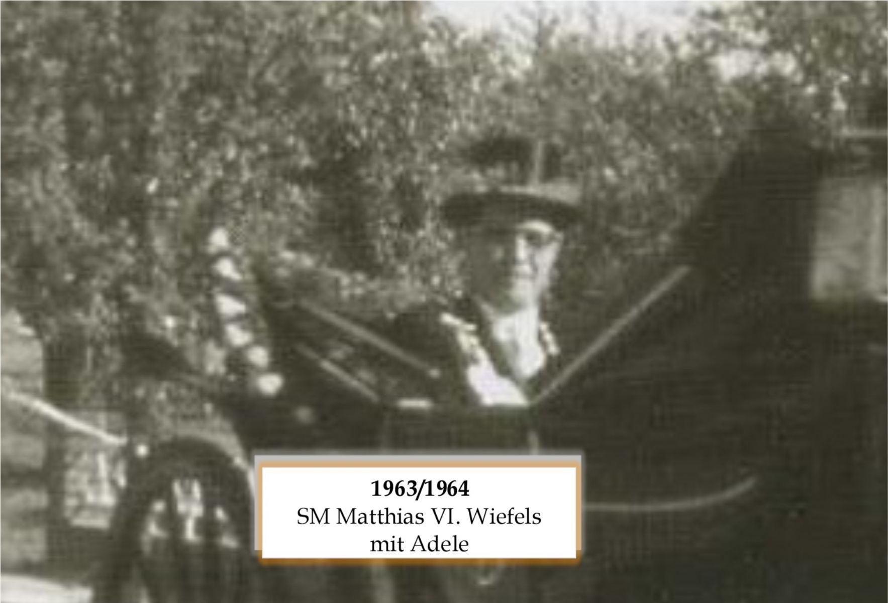 SM 1963/64 Matthias Wiefels mit Adele