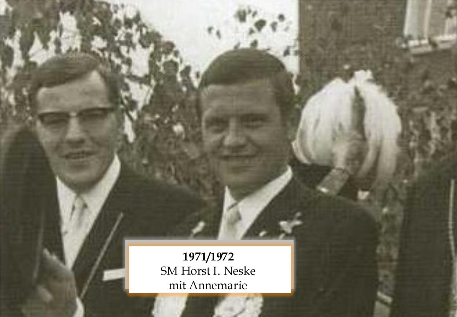 SM 1971/72 HorstI Neske mit Annemarie
