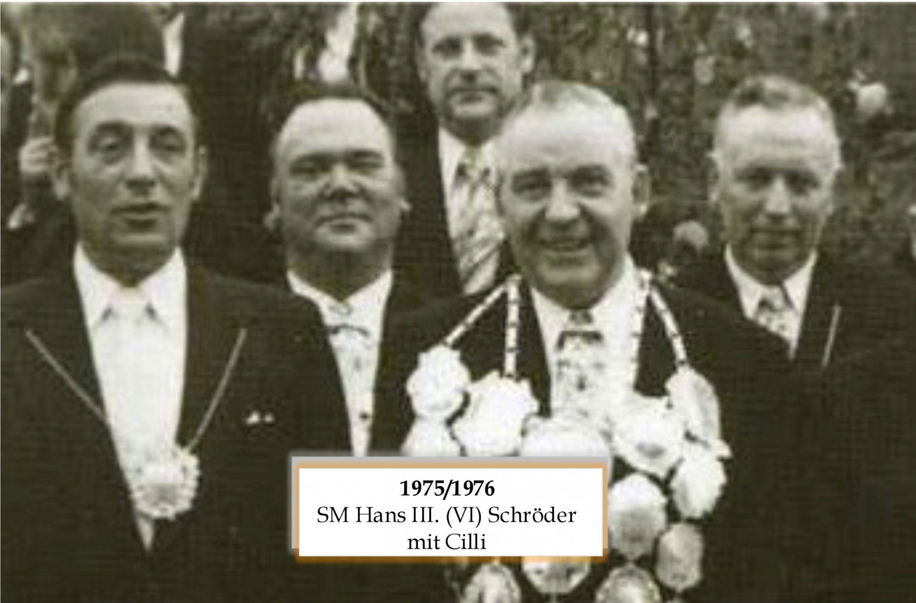 SM 1975/76 Hans VI Schröder mit Cilli