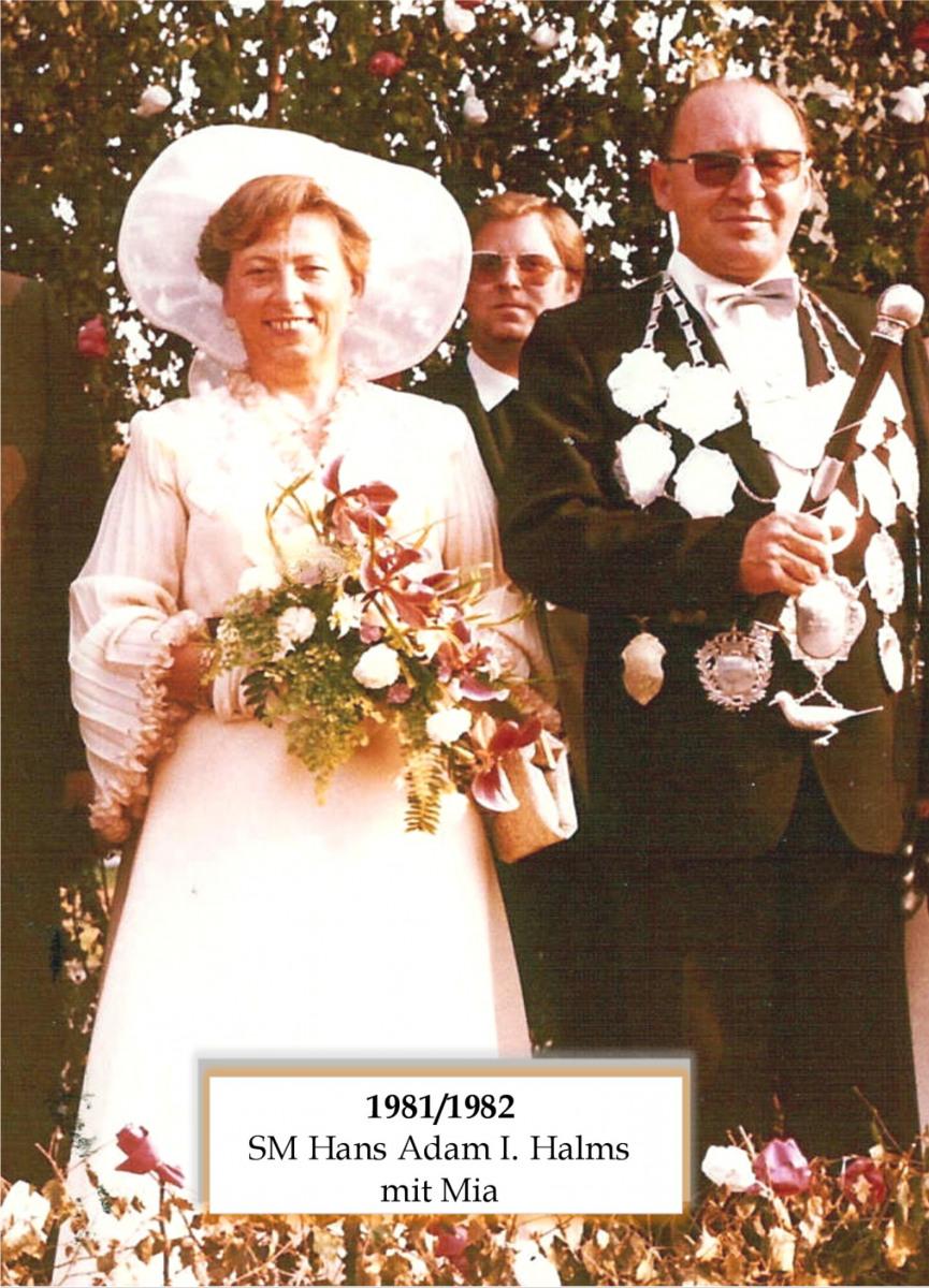 SM 1981/82 Hans Adam I Halms mit Mia