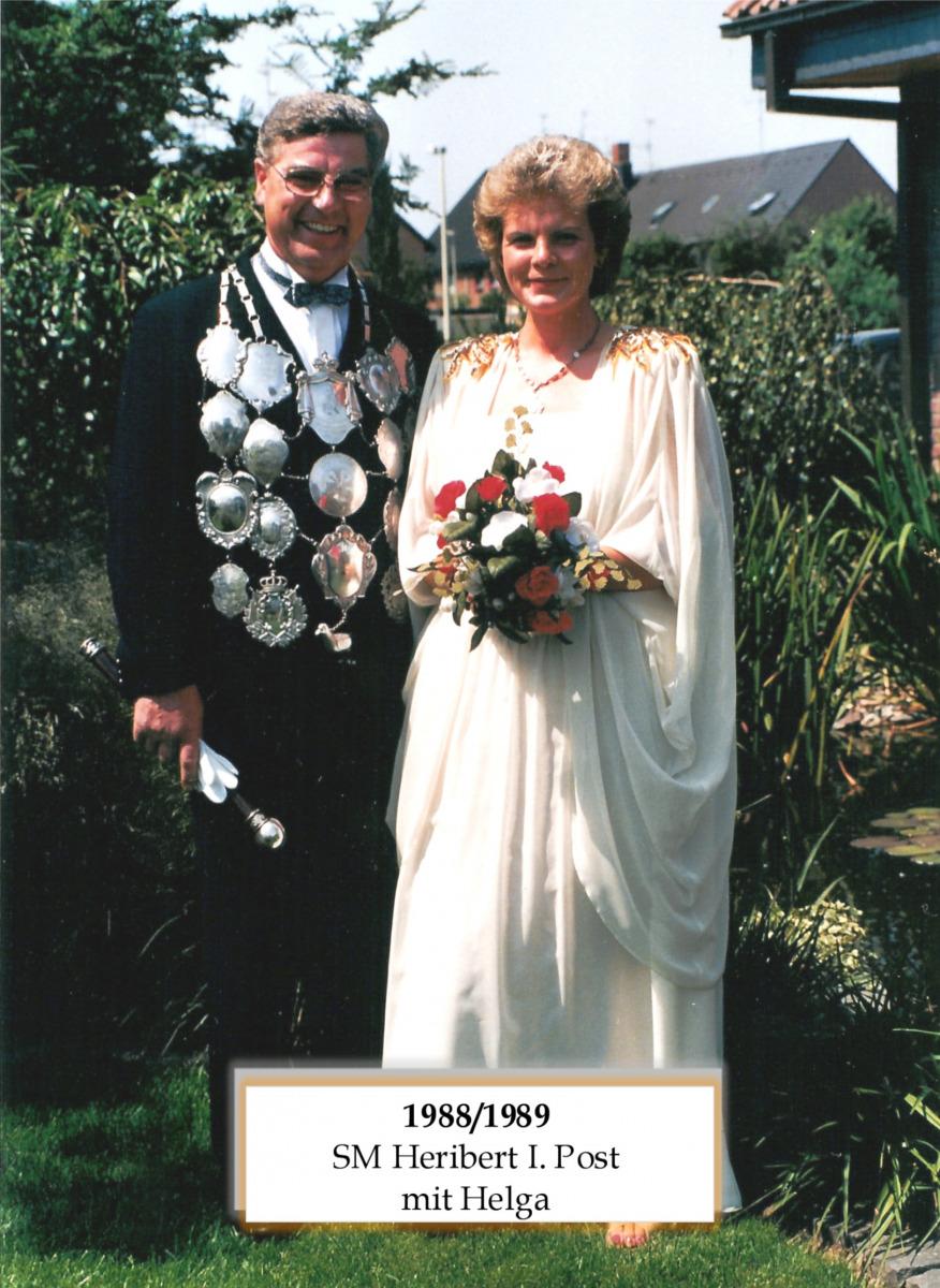 SM 1988/89 Herbert I POst mit Helga