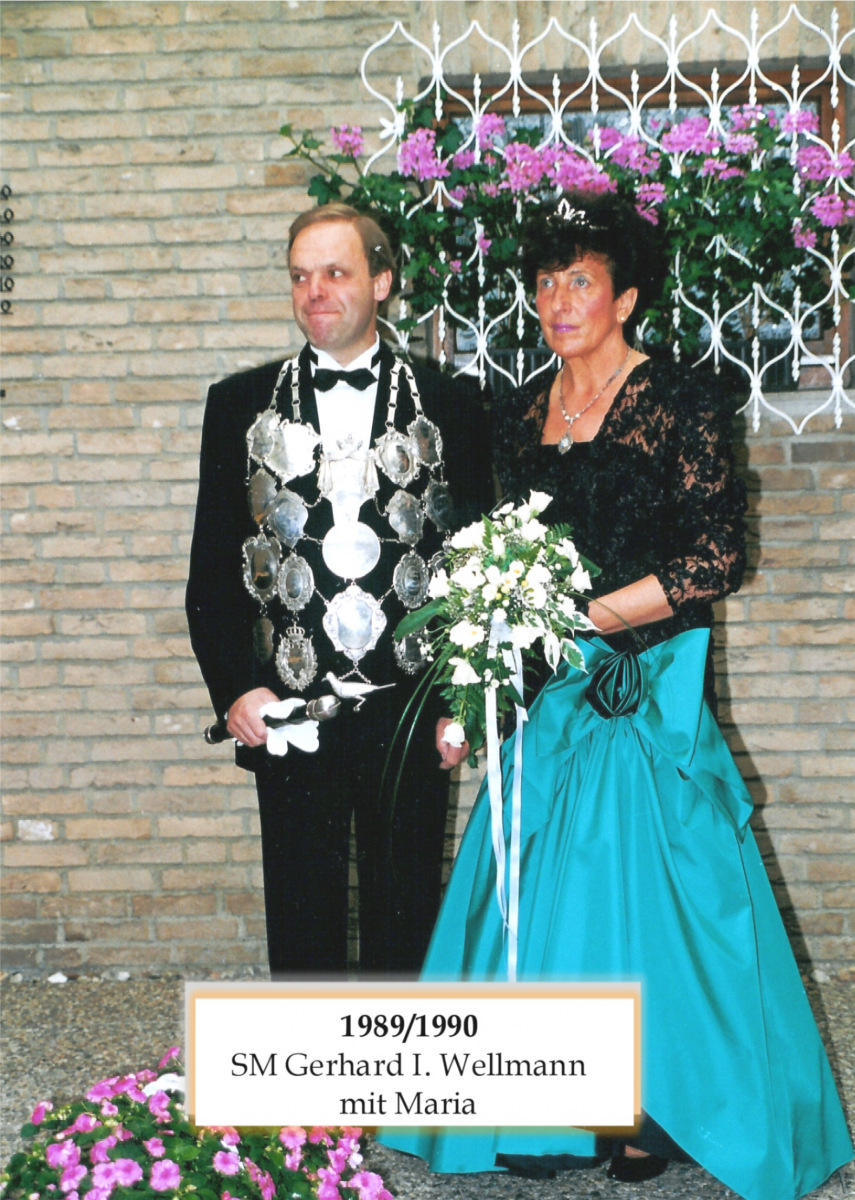 SM 1989/90 Gerhard I Wellmann mit Maria