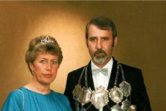 SM 1984/85 Peter X. Schiffer mit Magda